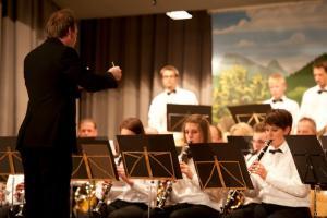Simon Scheiwiller 2012 am Jahreskonzert der Feldmusik Vorderthal
